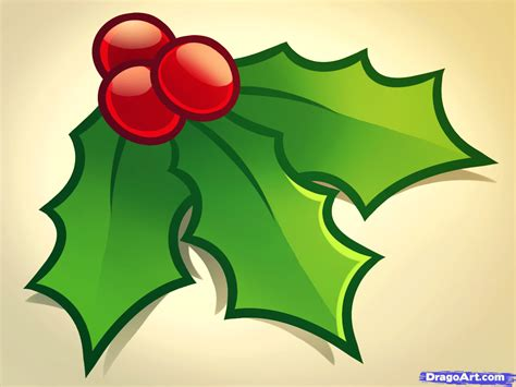christmas leaf how to draw step by step stuff seasonal free drawing