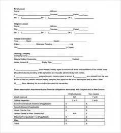 Agreement Templates Between Two by Sle Blank Lease Agreement Template 7 Free Documents