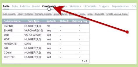 oracle delete table how to drop constraints in oracle 2 steps with pictures