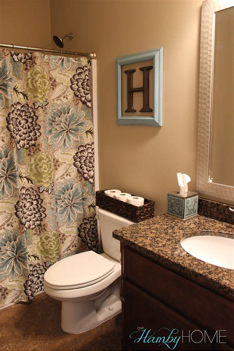 Simple Bathroom Ideas For Apartments Tgif House Tour Guest Bathroom The Hamby Home