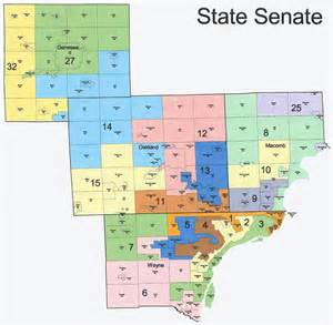 state senate map the western right michigan redistricting official