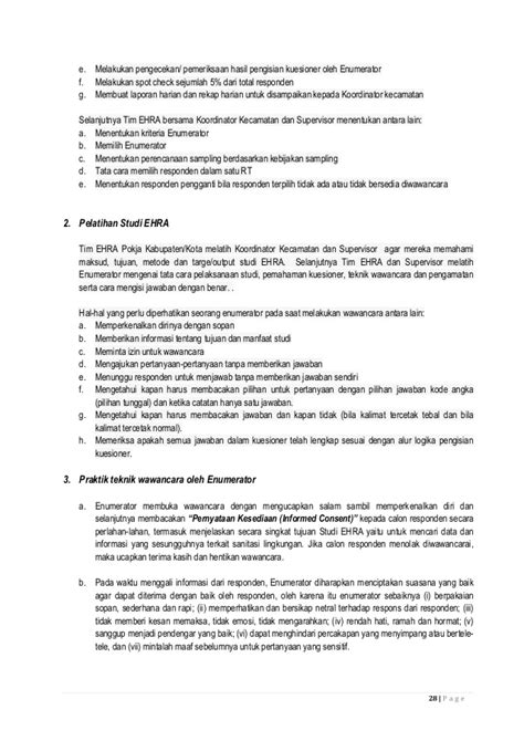 membuat laporan kuesioner pedoman studi ehra environmental health risk assessment 2014