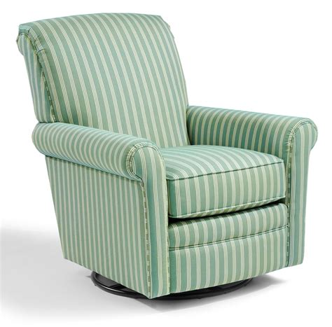 Upholstered Recliners Chairs by Flexsteel Accents Plaza Swivel Glider Dunk Bright