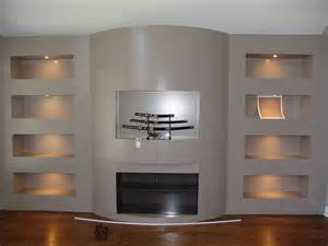 built in wall unit decorating the entertainment corner with built in wall