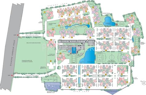 layout plan of garden city 1050 sq ft 3 bhk 2t apartment for sale in south city
