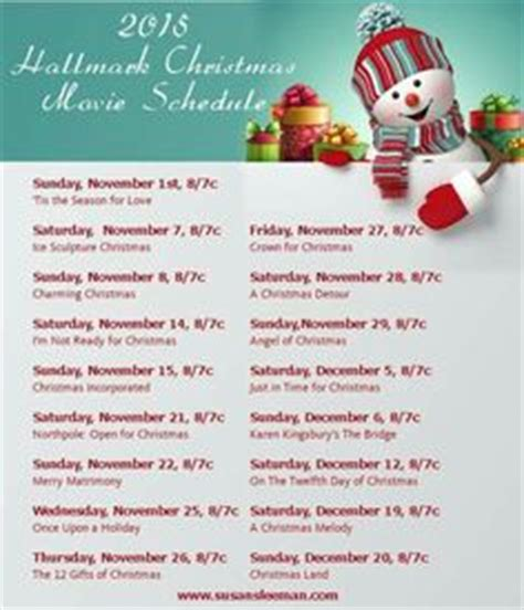 printable schedule of hallmark christmas movies 1000 images about christmas movies on pinterest family