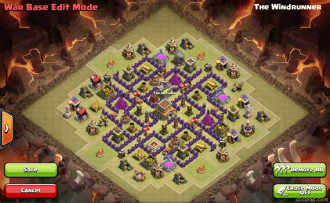 unstoppable war town hall 8 base clash of clans town hall 8 war base