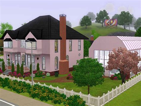 the pink house mod the sims the pink house of the naturalist