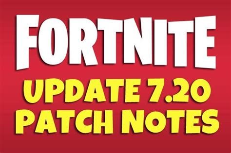 fortnite patch notes update epic games  update