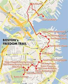 Boston Freedom Trail Map by Nu Bucket List 21 Nu Student Life