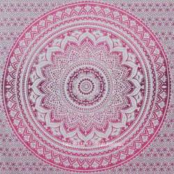 Queen Cotton Duvet Cover Pink Ombre Mandala Cotton Wall Tapestry Bedding