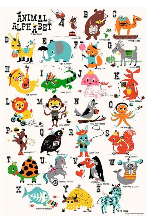 printable animal poster animal alphabet children s nursery print by ketchup on