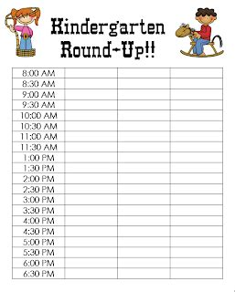 Sign Up Sheet Template With Time Slots Time Slot Sign Up Sheet Template
