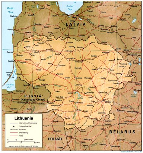 map of lithuania nationmaster maps of lithuania 8 in total