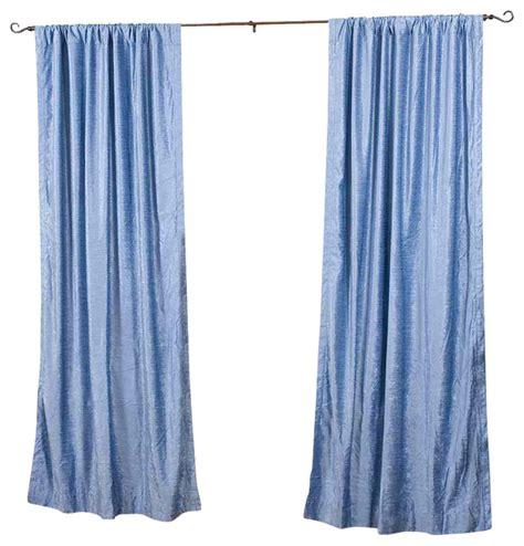 blue curtain rod light blue rod pocket velvet curtain drape panel piece