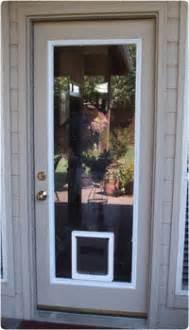 glass door with pet door built in full view insert with built in pet door large pet door
