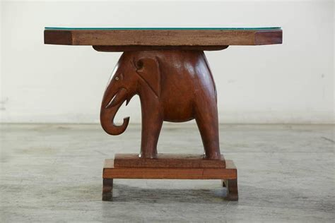 Elephant Table L Mahogany Table With Carved Elephant Base With Roosevelt History For Sale At 1stdibs