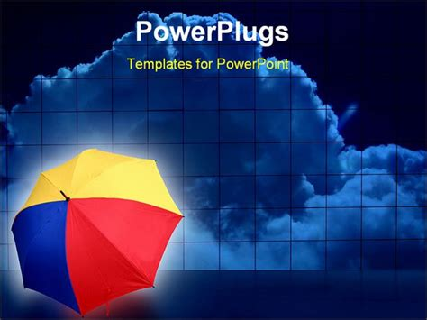 powerpoint templates free weather powerpoint template red yellow blue open umbrella