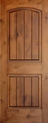 Knotty Alder Interior Doors Knotty Alder Arch 2 Panel Doors With V Grooves Homestead Doors