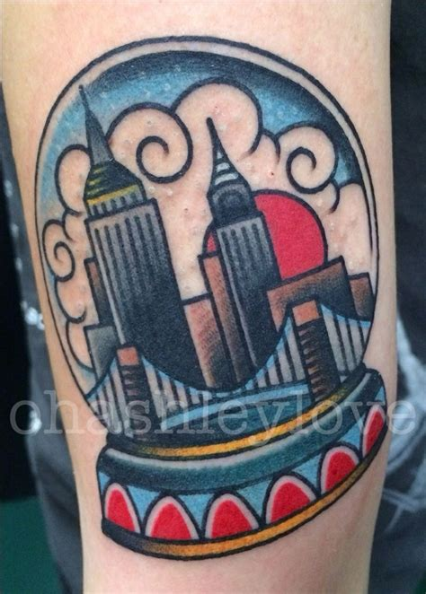 New School Tattoo Nyc | traditional tattoo nyc snow globe tattoo pinterest