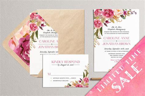 sles of wedding invites sale printable floral wedding invitation modern wedding