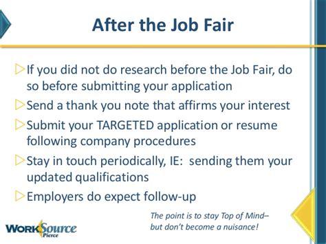 thank you letter after internship fair how to work a fair