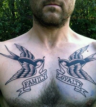family chest tattoos for men 60 banner tattoos for waving word ink design ideas