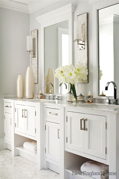 All White Vanity by White Vanity Traditional Bathroom New Home