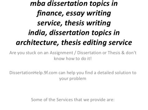 dissertation topics mba dissertation topics in finance essay writing service