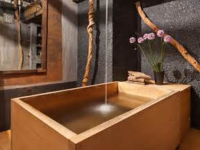 Japanese Faucet Bathroom With Japanese Wooden Soaking Tub