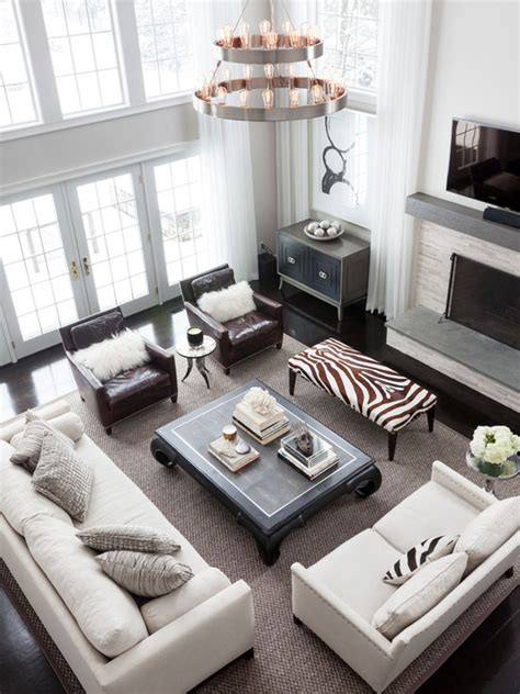 2 story living room decorating ideas 2 story curtains transitional living room benjamin white mcdougald