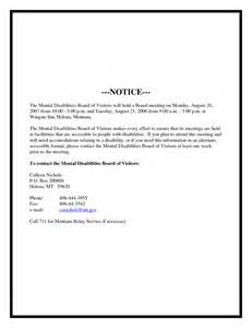 Notice Of Board Meeting Template by 8 Best Images Of Board Meeting Notice Sle Board