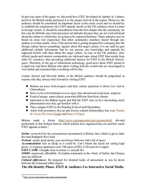 Serbian Culture Essay by Cultural Studies Research Paper On The Identity Of Exit