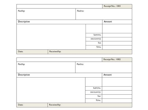 cash payment receipt house rental invoice template in excel format