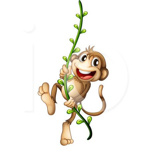 cartoon monkey swinging on a vine monkey swinging on a vine clip art 23