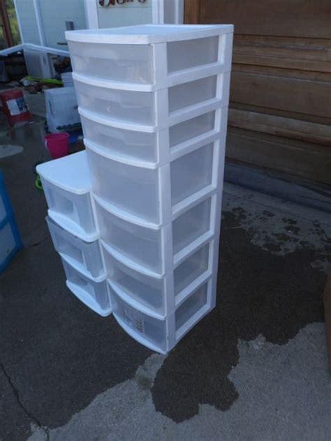 Plastic Storage Drawer Sets by Lot Detail Plastic Storage Organizer Drawers 2 Sets