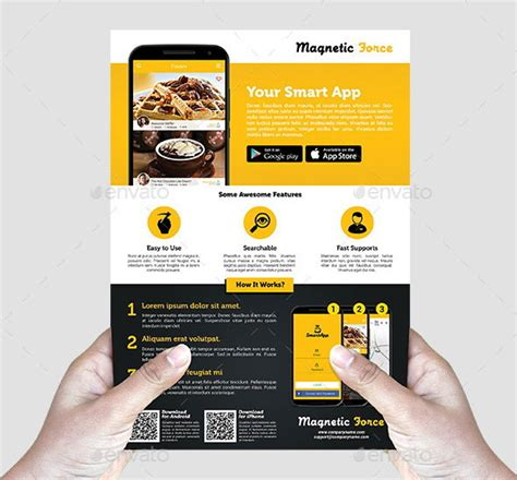 30 Effective Web Mobile Apps Flyer Psd Templates Web Graphic Design Bashooka Free Flyer Design Templates App