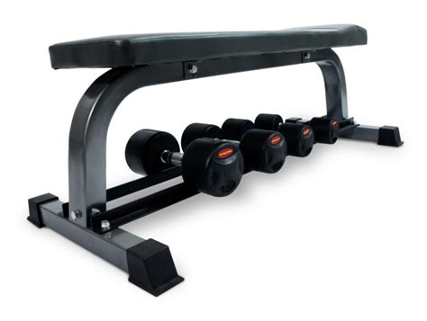 flat bench with rack bodymax cf302 flat bench with dumbbell rack