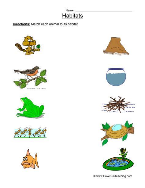 Animal Habitats Worksheets by Habitats Worksheet Phoenixpayday