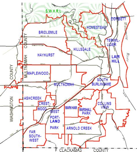 map of oregon near portland portland oregon neighborhood map portland oregon mappery