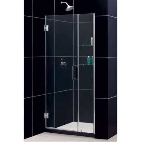 36 Inch Glass Shower Door Dreamline Unidoor 35 To 36 In X 72 In Semi Framed Hinged Shower Door In Chrome Shdr 20357210cs