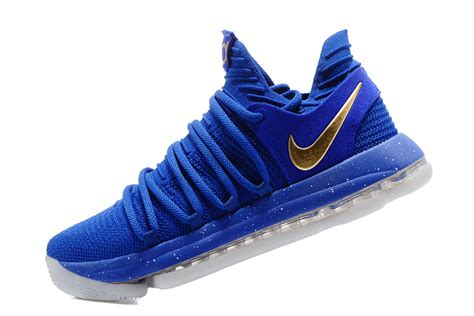 Sepatu Basket Nike Kd 10 Blue Gold Finals nike kd 10 finals pe blue gold for sale jordans 2017