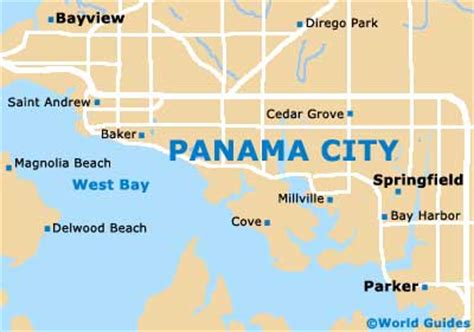 panama city map pin world guide panama on