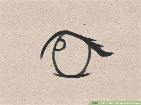 3 ways to draw anime eyes wikihow how to draw simple anime eyes 5 steps with pictures