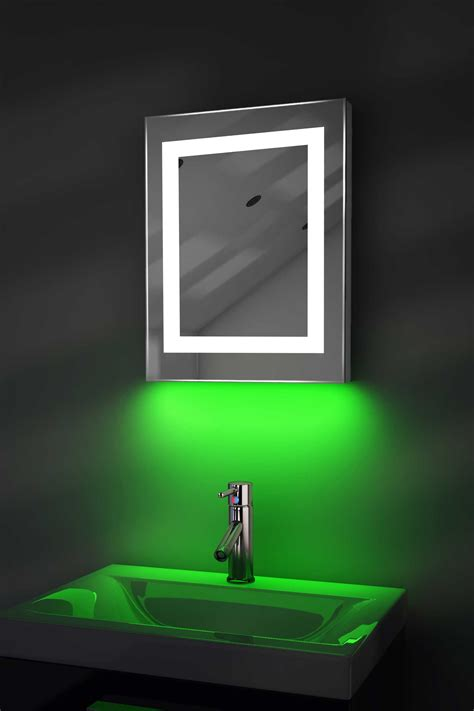 Led Bathroom Mirrors With Demister Ambient Shaver Led Bathroom Mirror With Demister Pad Sensor K157ig Ebay