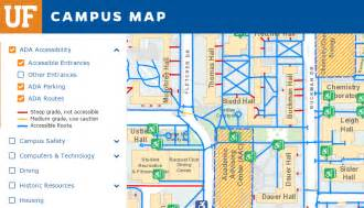 University Of Florida Map by Accessibility At Uf