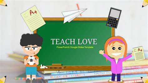 google slides themes education teach love google slides template powerpoint themes for