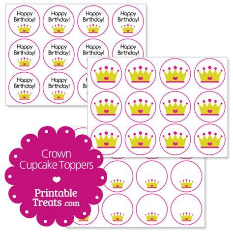 printable crown cupcake toppers free printable crown cupcake toppers printable treats com