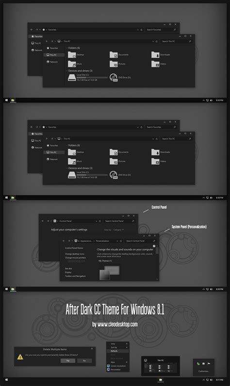black themes for windows 8 after dark cc theme for windows 8 1 by cleodesktop on