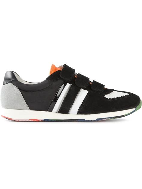 velcro shoes for carven velcro sneakers in black for lyst